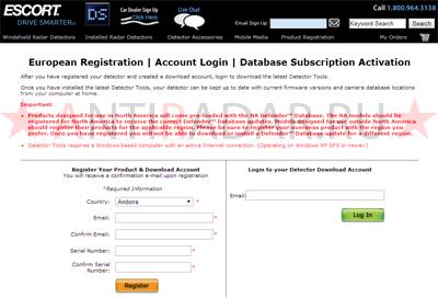 Escort passport max international обновление
